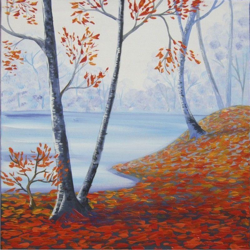 KSAVERA WALD Herbst Kunst Gemälde Impressionismus Baum Malerei ...
