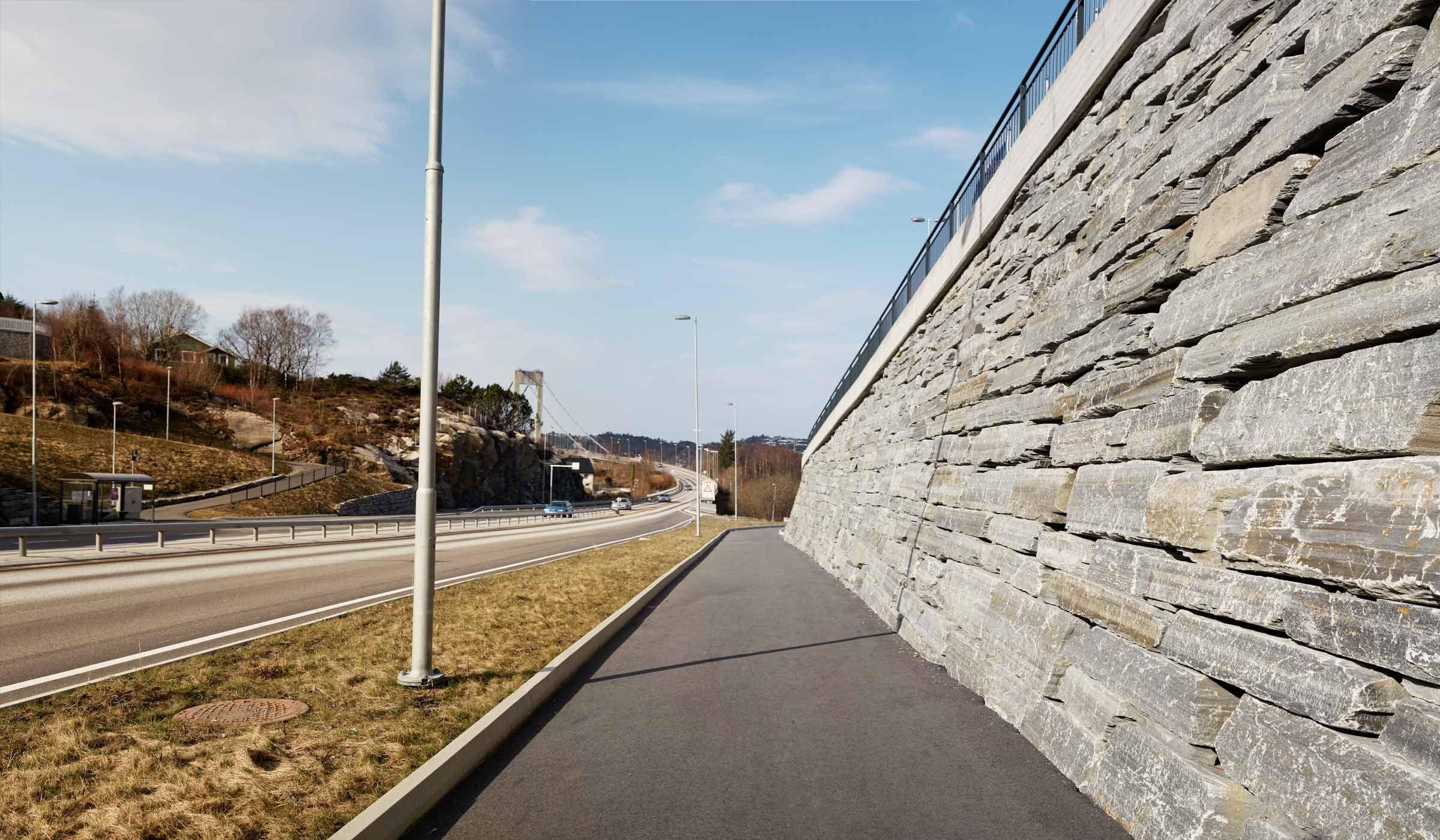 Norwegian stone wall