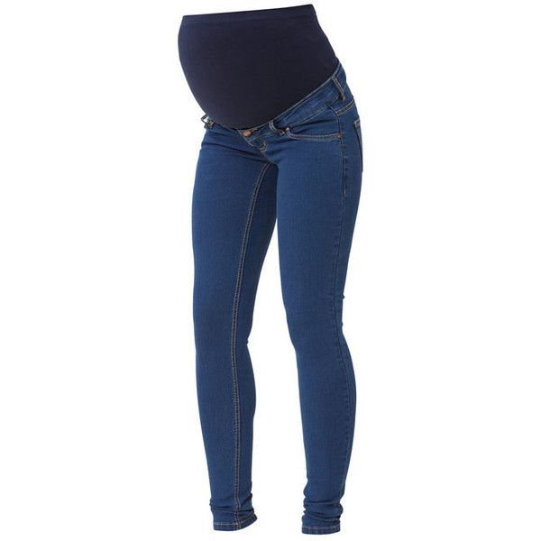 SKINNY MATERNITY JEANS - Mama.licious ($67) ❤ liked on Polyvore featuring maternity