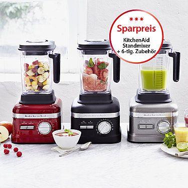 KitchenAid Standmixer Artisan Power Plus Liebesapfel-Rot Smoothies - kitchenaid küchenmaschine rot