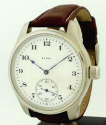 1917 — ELGIN Pocket Watch Conversion To Wrist Watch — Round