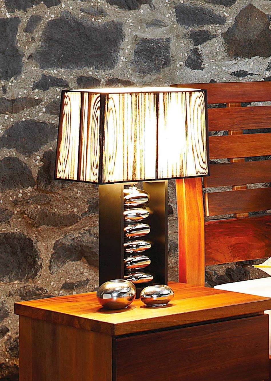 Boxed Pebble Lamp by Eunice Taylor from Harvey Norman New