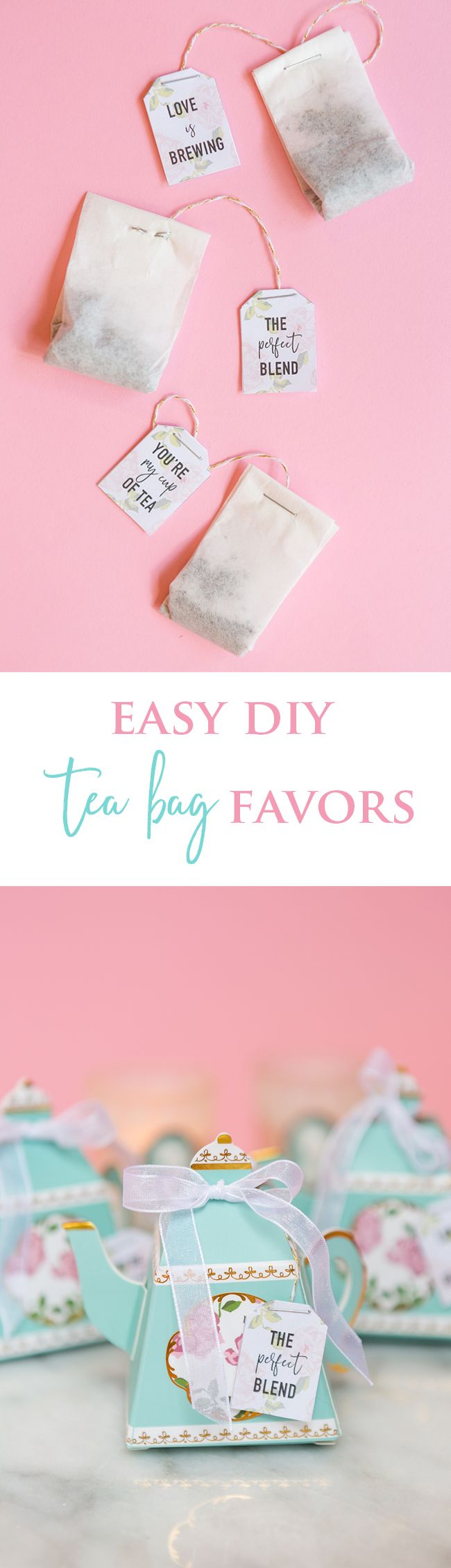 Diy bridal shower tea bags with coffee filters wedding favours