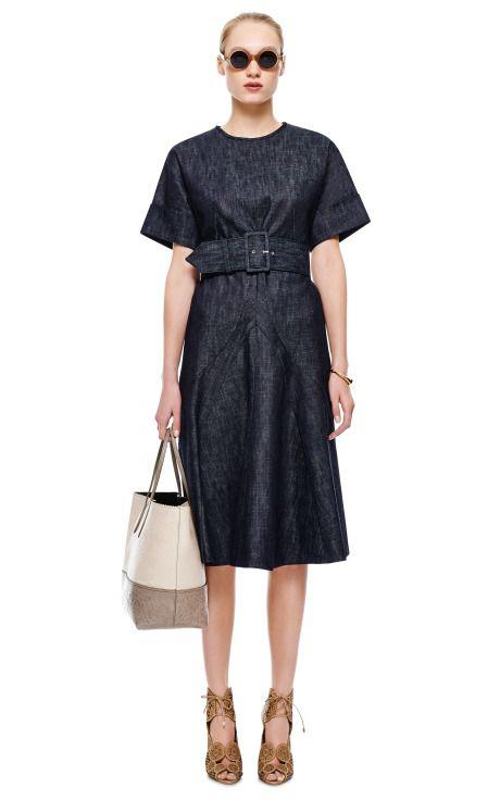 Belted Denim Dress By Derek Lam Moda Operandi