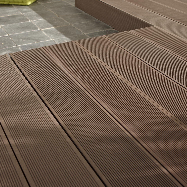 Aspect De Surface Rainuree Type De Pose Planche A Clipser Garantie Annee Brun Fonce Planche Composite Terrasse Bois