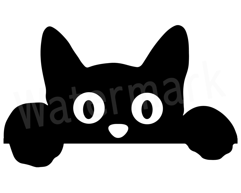 Peeking Cat SVG, Peeking Cat Clipart, Cat Mum SVG, Fur Mom
