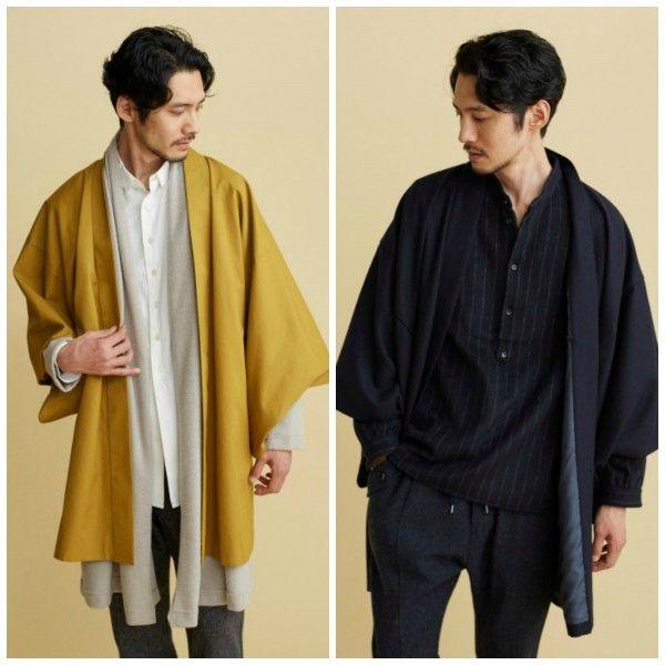 japanese haori coats for the modern samurai winterwear is coming pinterest mode mode. Black Bedroom Furniture Sets. Home Design Ideas