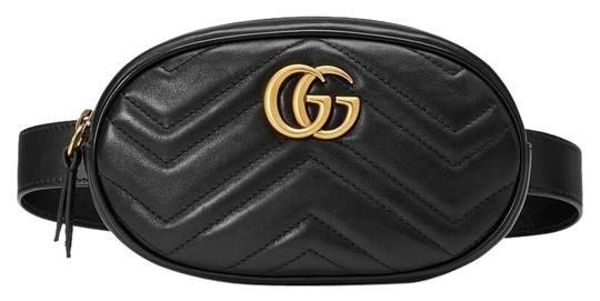 4a0343eb656 Gucci Marmont Gg Matelassé Belt Black Leather Cross Body Bag. Get the  trendiest Cross Body