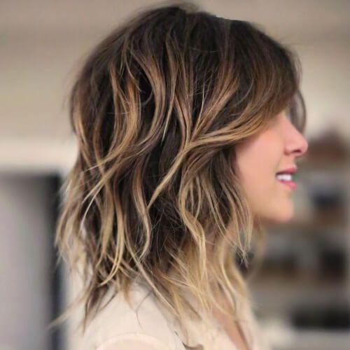 Shoulder Length Shag Haircuts Hair Color In 2019 Pinterest