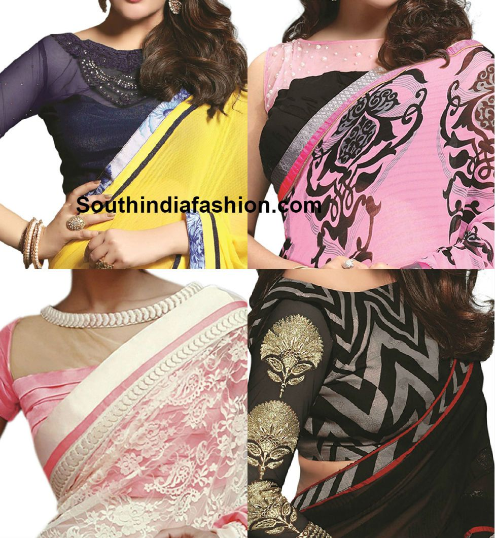 Blouse designs saree blouse back designs blouses neck designs 30 jpg - Boat Neck Blouse Designs