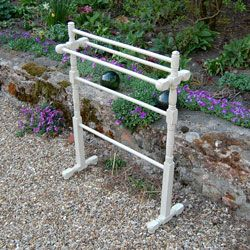 Antique Victorian painted shabby chic towel stand