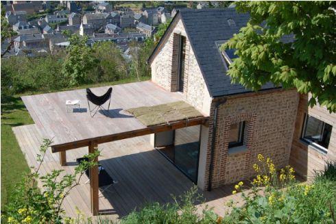 Una piccola casa sostenibile in normandia blog dettagli for Progetti di cottage sulla spiaggia e planimetrie