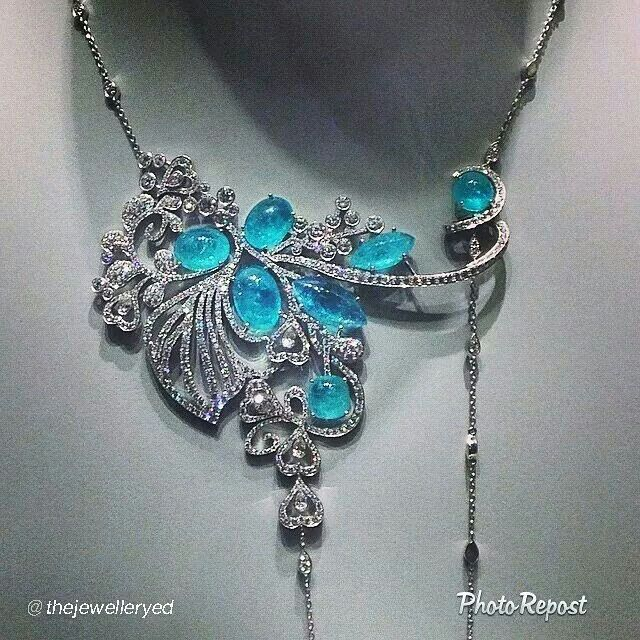 "By @The Jewellery Editor ""So beautiful! Paraibas shine at @boodles1798 press day"" via @PhotoRepost_app"