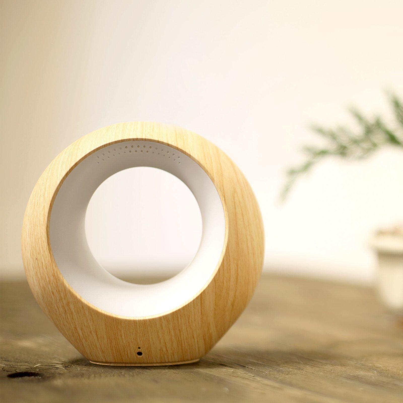 AirSense Smart Air Quality Monitor Wood/Beige Air