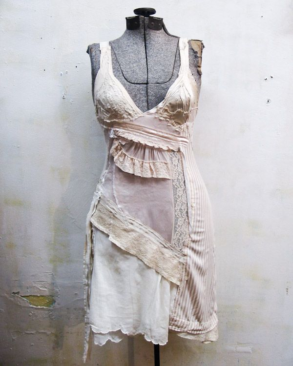 the Minna dress.. a light & elegant creature, carefully patched together from antique remnants. available in the gibbous shop ♥