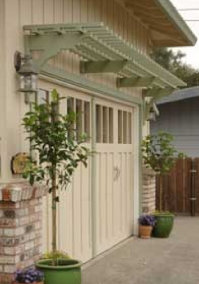 Nice Trellis Over Garage Doors