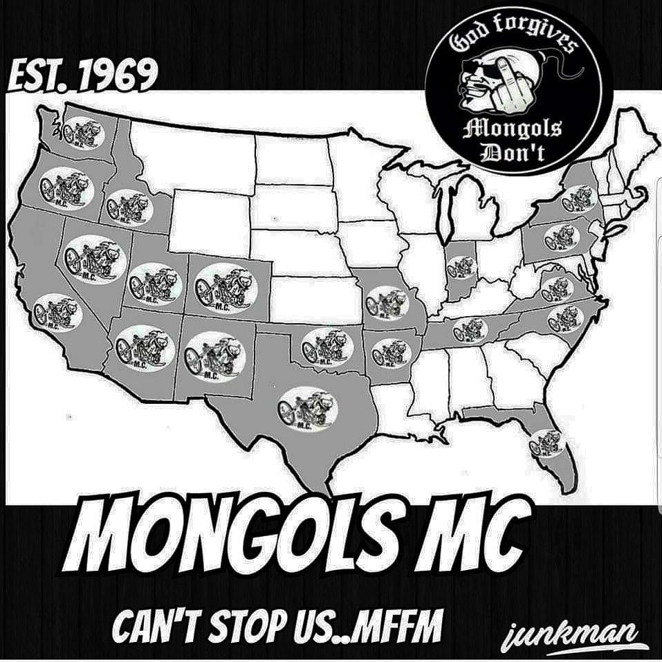 Us Outlaw Motorcycle Gangs Map New map for the nation..can't stop us!..junkman 1% Mongols mc