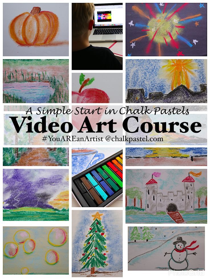 You asked for it! A Simple Start in Chalk Pastels Video Art Course. With a simple art supply list, this format makes it even easier to build a love of art this year.