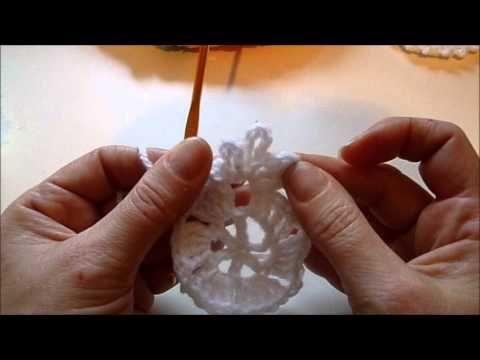 Schneeflocke Häkeln Eisblume Eiskristall Baumschmuck Stern