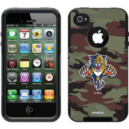 Florida Panthers Traditional Camo Design on OtterBox Commuter Series Case for Apple iPhone 4/4s