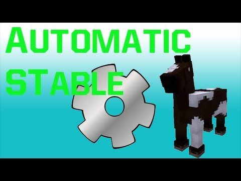 Automatic Stable For Horses Minecraft Project | MC Maps, Saves