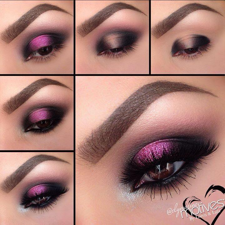 Maquillaje negro y rosa Maquillajes Pinterest Maquillaje