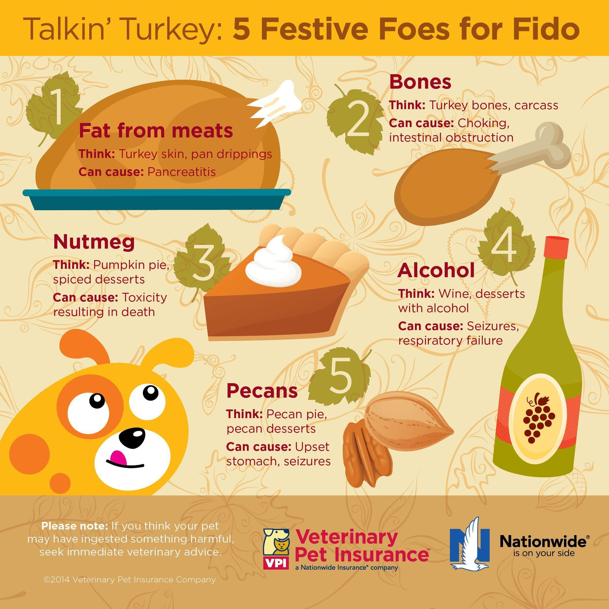 Dangerous Thanksgiving foods to keep away from pets