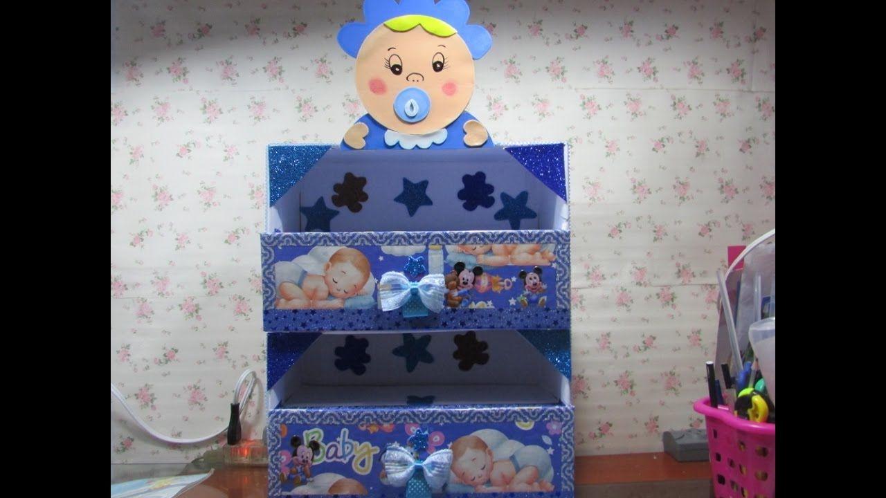 Diy Zapatera De Carton Para Bebe Cardboard Organizer For Baby Diy Baby Stuff Cardboard Organizer Toy Chest