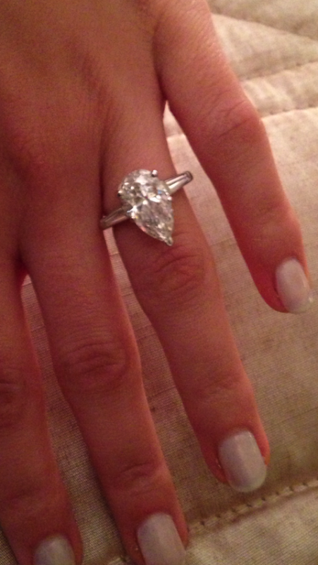 3 35 Ct Pear E Color In A Tiffany Style Setting With
