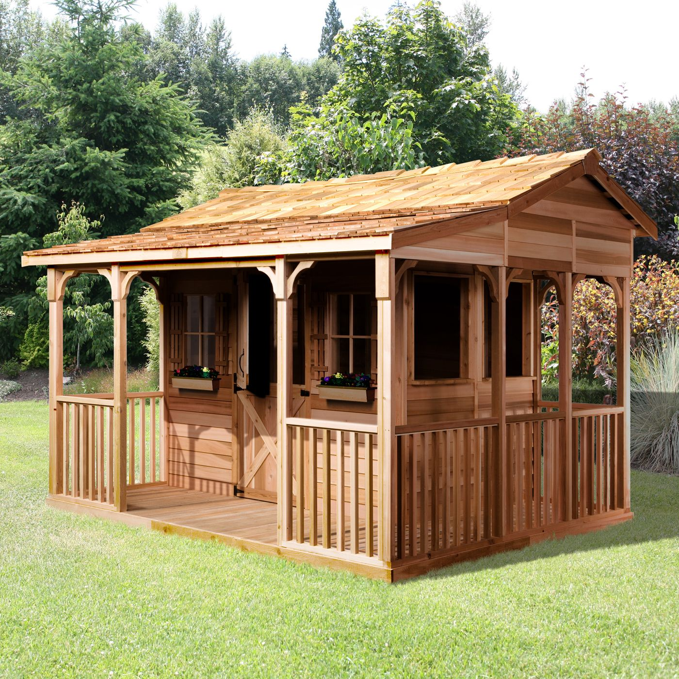 Cedarshed CookHouse 12ft x 10ft Cedar Storage Shed