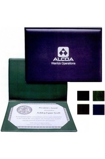Sealed certificate holder with foam padded covers and four sealed ...