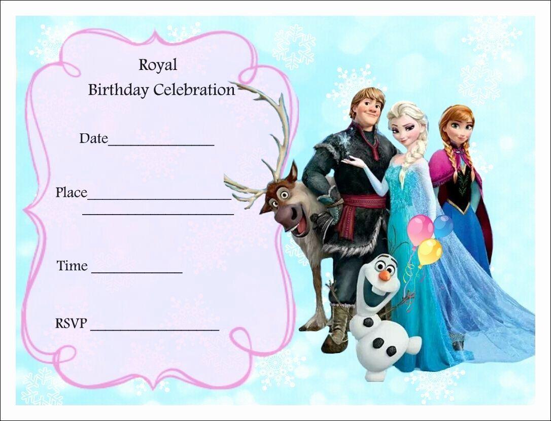 Frozen Birthday Invitations Template Best Of Free Frozen Party Invitations Frozen Par Frozen Party Invitations Frozen Birthday Party Invites Frozen Invitations