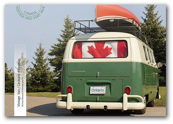 Canada Post Vintage Van Postcard VW Vintage vans