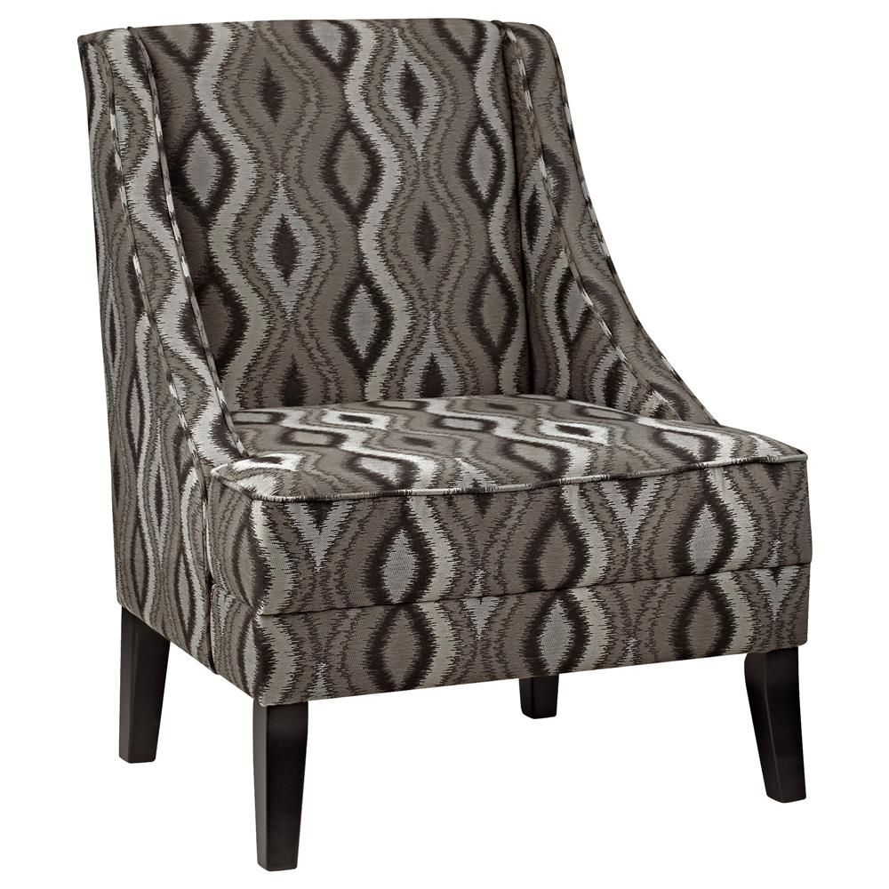 Atelier Eclectic Patterned lounge chair with wood legs