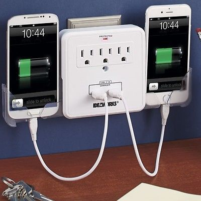 Cell Phone Charging Station Mobile Device Tablet Charger Usb