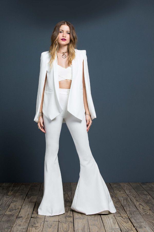 Mich Kogan Ropa Blazer Blanco Mujer Blusas De Moda