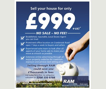 Used As A Large Volume Estate Agents Flyer Marketing Campaign With