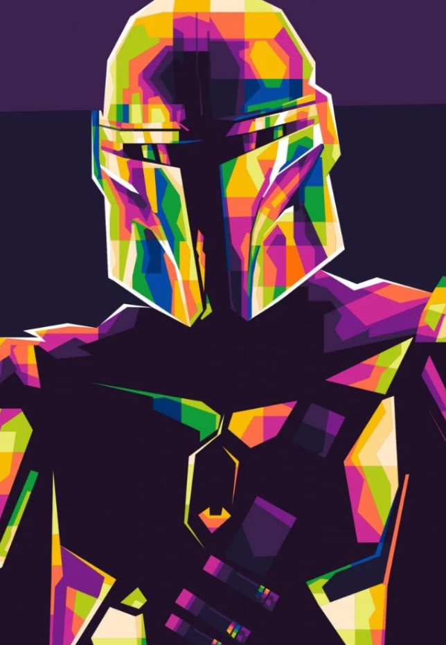 The Mandalorian From Star Wars Star Wars Coloring