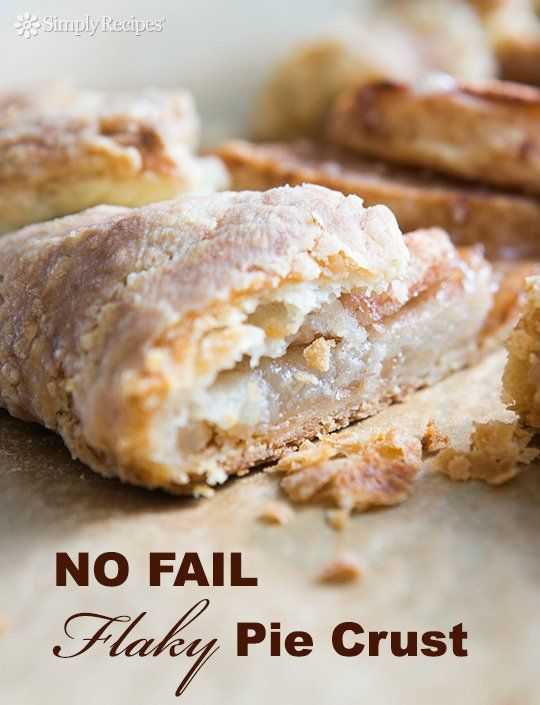 Easiest, flakiest homemade pie crust EVER! This recipe is NO FAIL, no kidding. No machine required either. My go-to pie crust recipe. On SimplyRecipes.com #PieCrust #Pie #Dessert