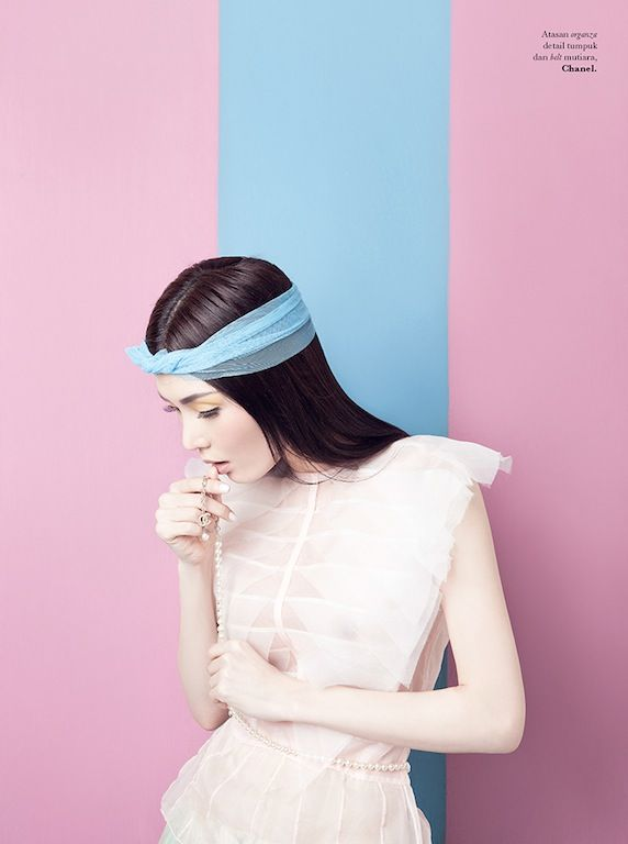 """pastels: The Terrier and Lobster: """"Candy Girl"""": Jillian by Raja Siregar for Elle Indonesia"""