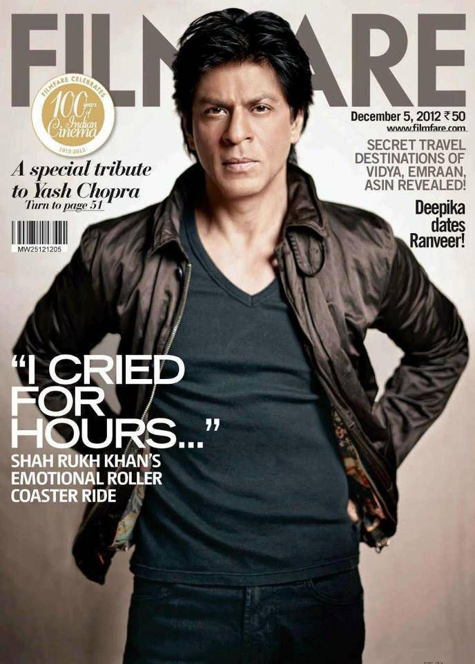 Shahrukh Khan On Filmfare Magazine December 2012 Special Issue