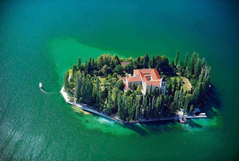 Visovac island, Croatia.