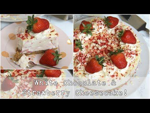 White Chocolate Strawberry Cheesecake Recipe Janes