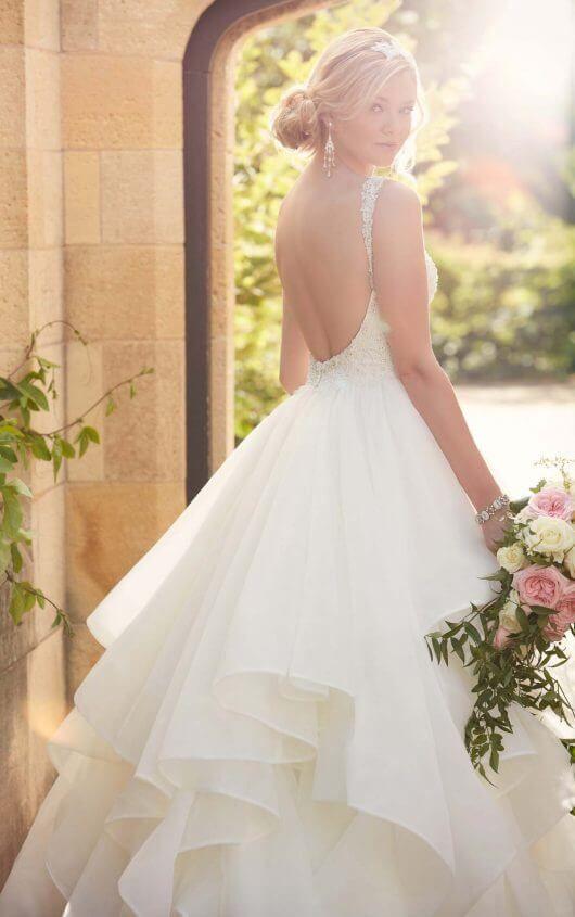 Backless Wedding Gowns   Ballgown wedding dress, Wedding dress and Gowns