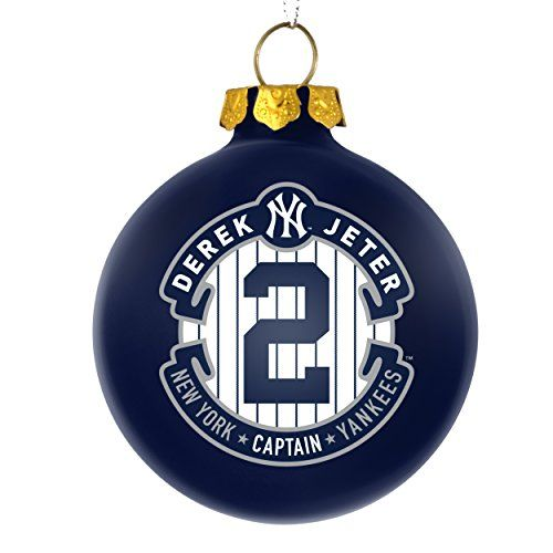 New York Yankees Derek Jeter #2 -The Captain- Commemorative 2014 Christmas  Ornament MLB Baseball- 2 3/4