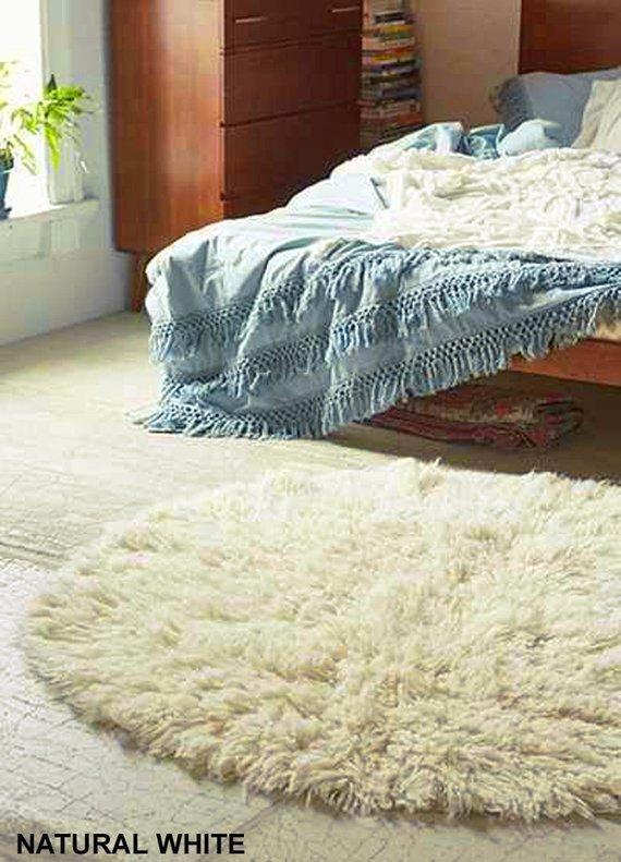 Stylish 6 Round Flokati Rug Premium 2 5 Wool Pile