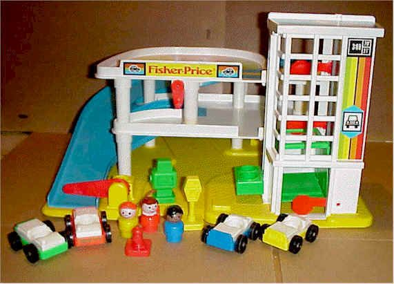 Little People Garage : Vintage fisher price little people garage shopgoodwill
