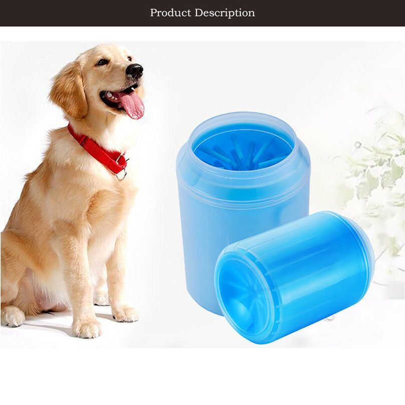 Portable Dog Paw Cleaner Pet Cleaning Brush Cup Dog Foot Cleaner