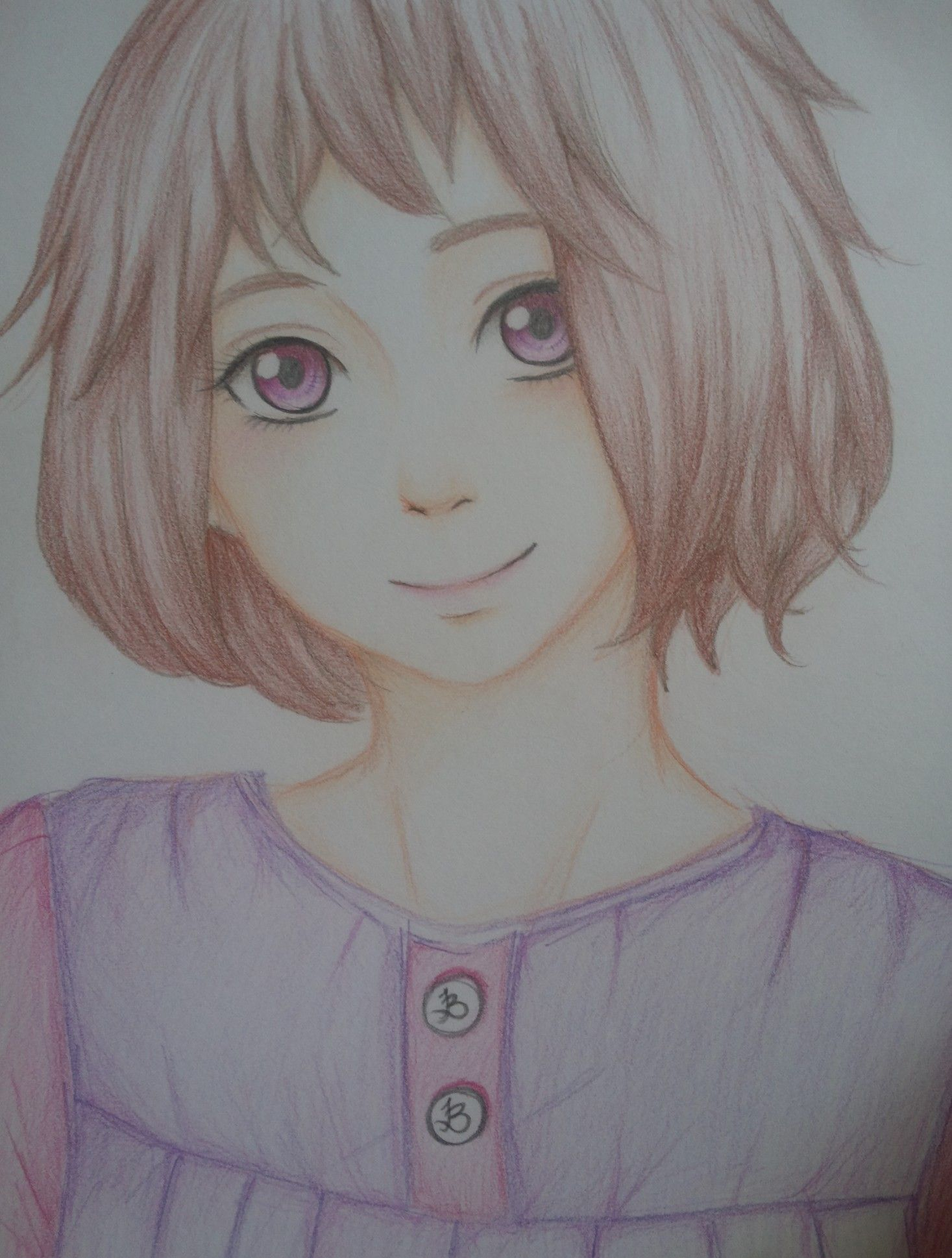 Girl with short hair drawing pinterest short hair