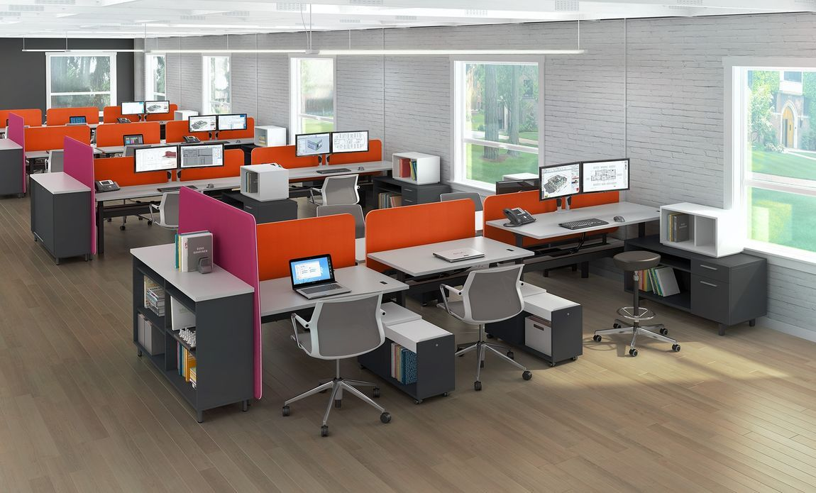 Modular Office Furniture Modern Workstations Cool Cubicles Sit Stand Benching Systems Office Furniture Modern Modern Office Cubicle Office Interior Design